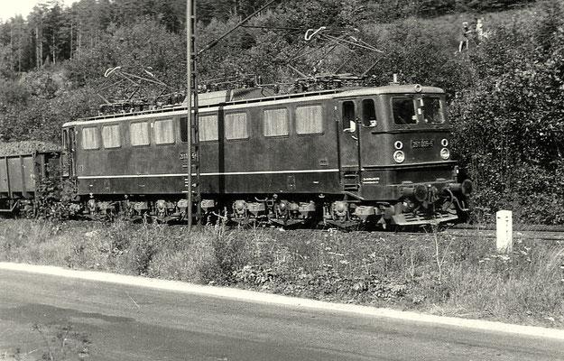 215 005 bei der Einfahrt in Rübeland 1970