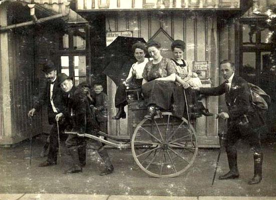 Lustige Fuhre am Bahnhof Hüttenrode 1921
