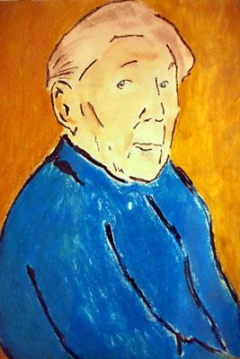 Portrait einer alten Dame | Ölkreide auf Papier | DIN A 1
