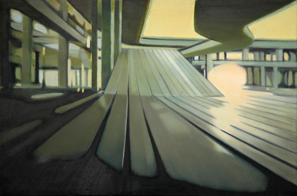 Bildmaschine 01/1, 2006, oil on canvas, 70 x 105 cm