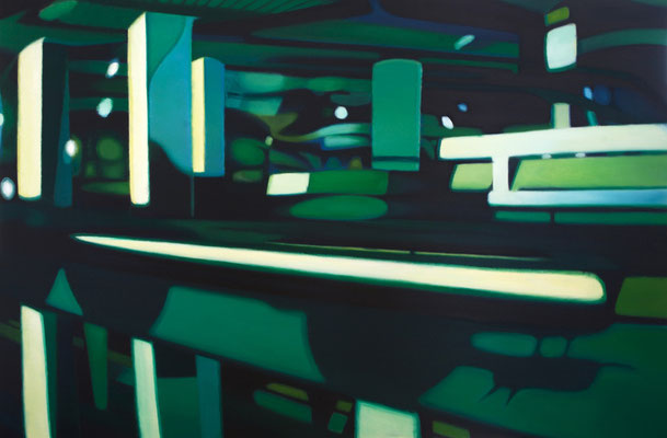 Bildmaschine 01/11, 2008, oil on canvas, 210 x 140 cm
