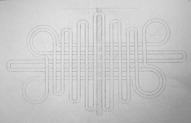 Bildmaschine 07, Blueprint, 2015, pencil on paper