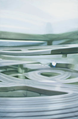 Bildmaschine 02/1, 2011, oil on canvas, 160 x 100 cm