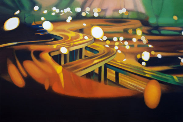 Bildmaschine 01/7, 2007, oil on canvas, 100 x 150 cm