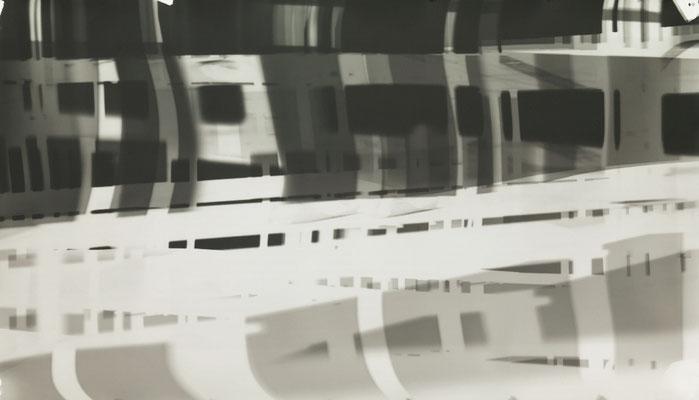 Bildmaschine 07, SW #14, 2015, photogram, 125 x 60 cm