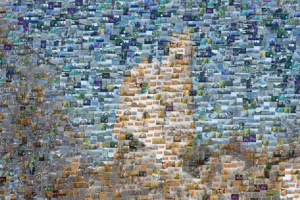 """Fragmente""  - Foto-Collage  50 x 75 cm"