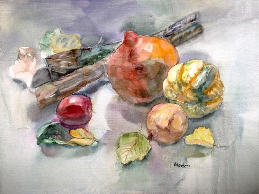 """Erntedank""  -  Aquarell  36 x 48 cm"