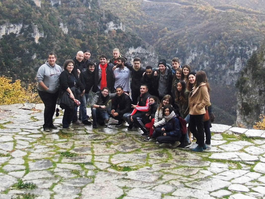 Group photo in Monodendri,at Cikos gorge