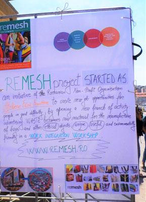 Poster of a best social entrepreneurship example (RO)