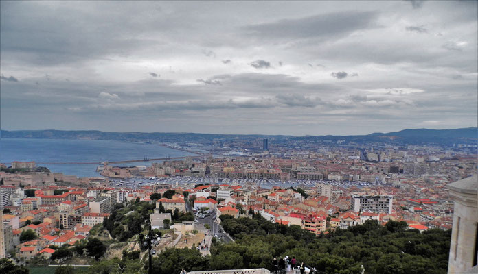 A view to Marseille from Notre-Dame de la Garde