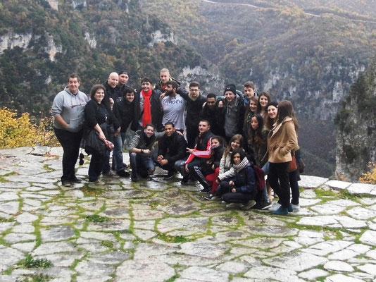Group photo in Monodendri,at Cikos gorge