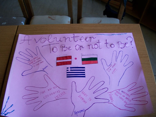 Poster about volunteerism, done by participants of the exchange