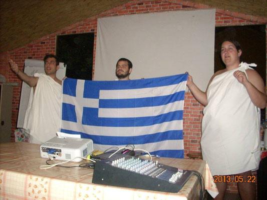 Greek participants presenting culture of Greece
