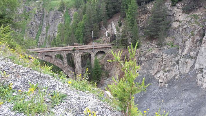 Brücke der Rhätischen Bahn