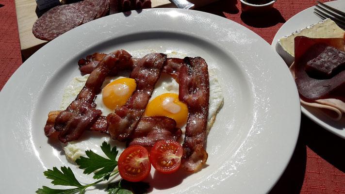 ...um auf der Alp Languard zu frühstücken