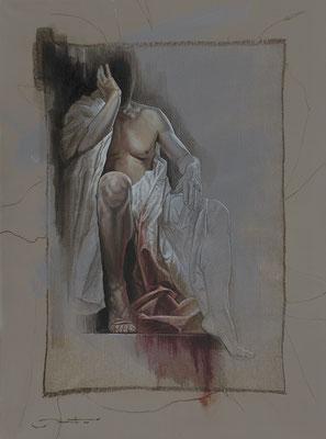 "F.Martin© ""Caligula"" Huile sur toile 130X97"