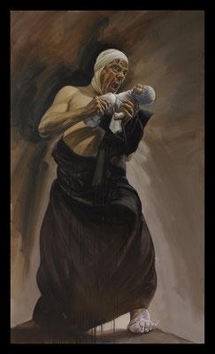 Cronos dévorant son enfant Huile sur toile 195X114