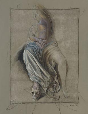 """F.Martin© """"Corps & âme, de la naissance à la mort""""  Huile sur toile 114X146"""