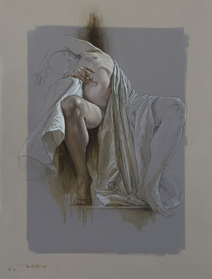 """F.Martin© """"Abandon I""""  Huile sur toile 116X89"""