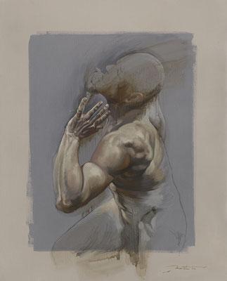 """F.Martin© """"Supplicare"""" Huile sur toile 100X81"""