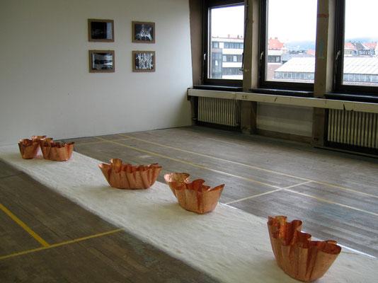 gibt es   2013   Kupfer und Salz, 4 Ritzungen auf MDF-Platte, jeweils 40x50 cm