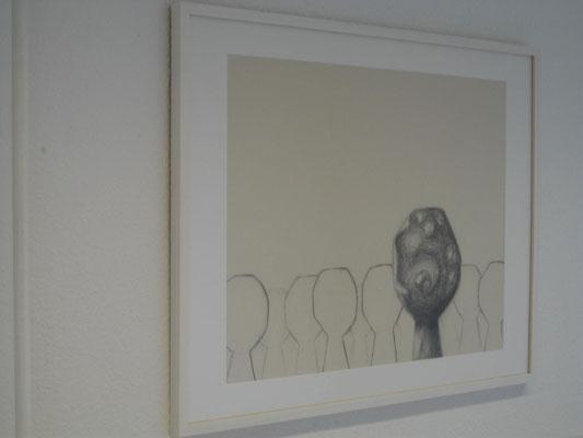 gibt es   2011   Rauminstallation   Zeichnung   Graphit, Bleistift auf Mi-Teintes   mit Rahmen 63x83 cm