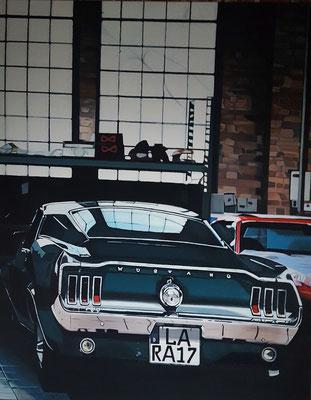 Ford Mustag / Arcyl auf Leinwand