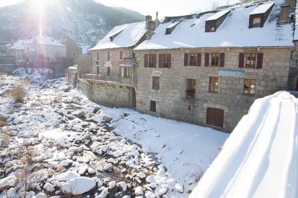 Neige au Pont de Montvert