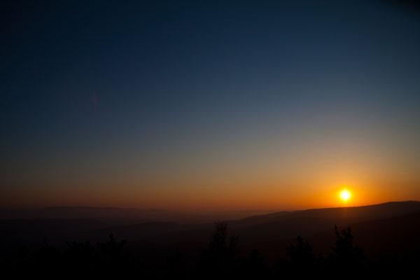 Coucher de soleil sur les Cévennes