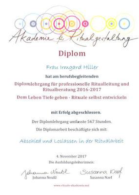 Diplomlehrgang Ritualleitung und Ritualberatung