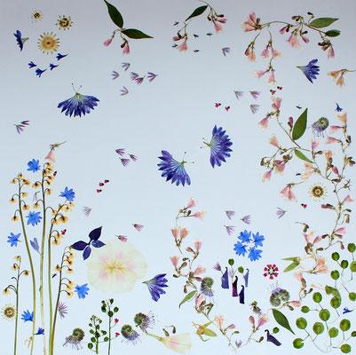 Ich war ein Brautstrauß 60 x 60 Blütenkunst Altus-art