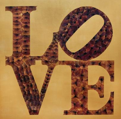Love aus wildem Mohn 80 x 80