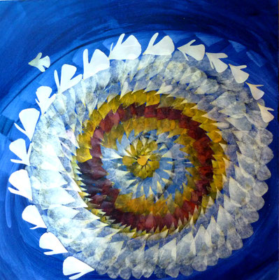 Ranunculus Blütenkunstwerk mit Ranunkeln - Ranunculus 40 x 40
