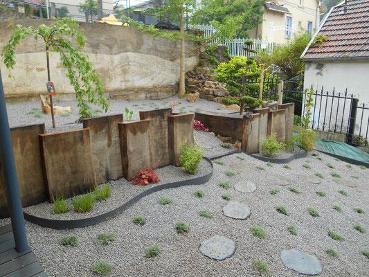 fin des travaux vue de terrasse