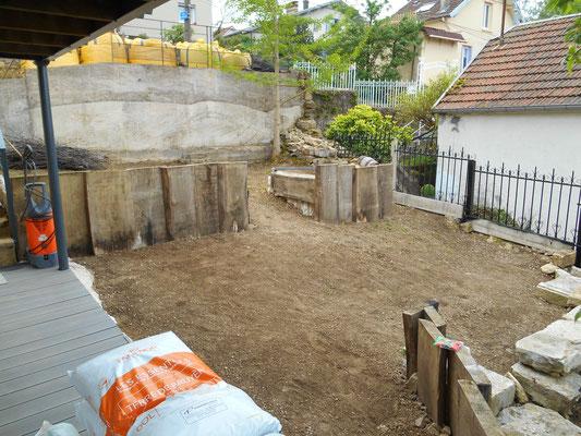 début des travaux vue terrasse