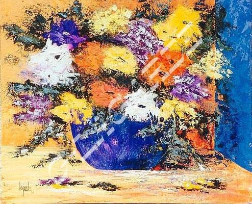 108 Bouquet orange et violet 61x50