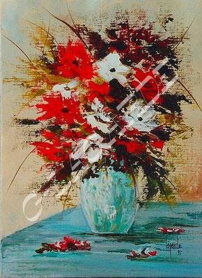 174 Bouquet des champs au vase claire 33x24