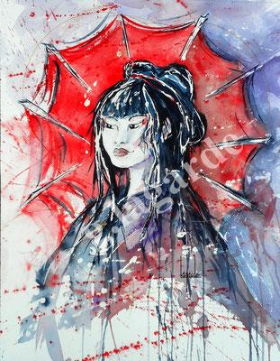 99 Jeune fille Japonaise +c 60x50