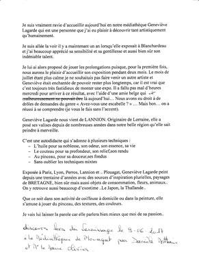 Médiathèque de Plouagat juin-juillet 2017