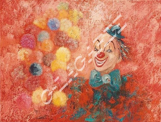 52  Le clown  65x50