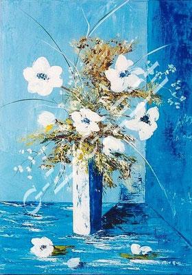 143 Fleurs blanches 65x46