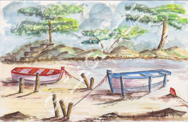 2 les deux barques +c 30x24