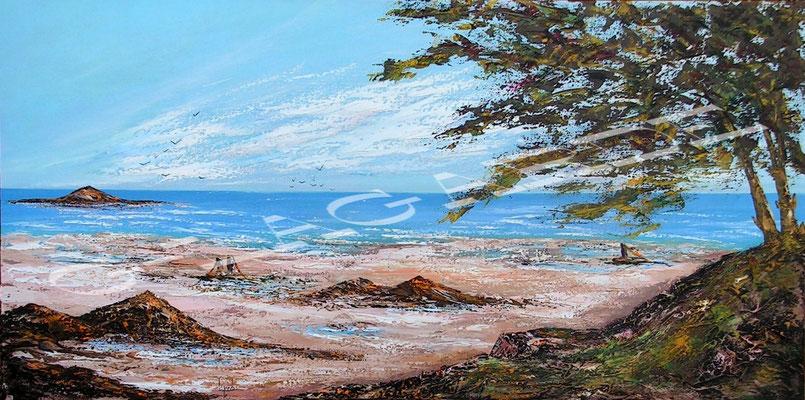 256 La plage abandonnée  120x60