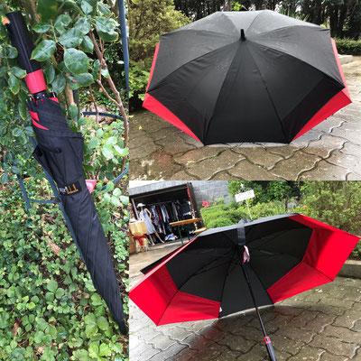 hier der perfekte Schirm fuer Zwei...ganz NEU.... ovale Form, extra breit und trotzdem im geschlossenen Zustand ganz normal