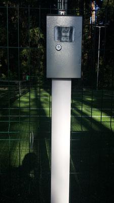 освещение теннисного корта