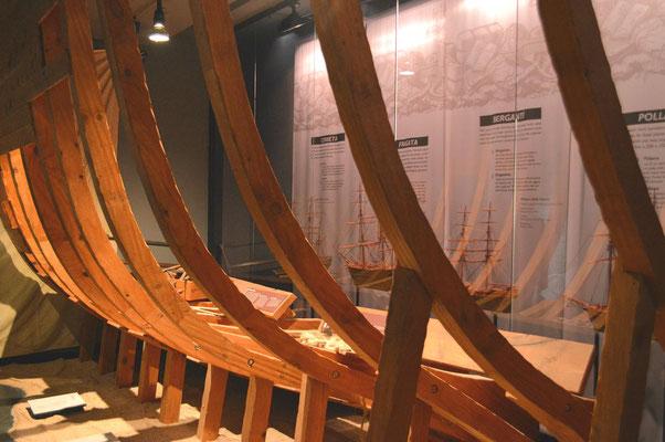 Schiffsbau in Lloret (Museu del Mar)