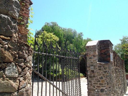 Eingangstor zum Torre- Schmiedeeisengitter mit Haken