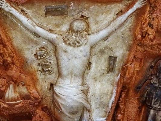 Es sind ausrangierte  Vorlagen, um die Heiligenfiguren in Olot gegossen werden
