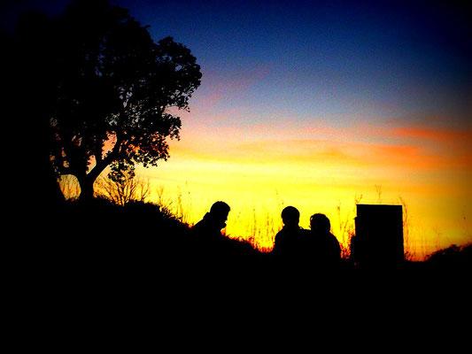 Sonnenuntergang auf K.