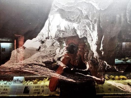 Der Gründer des Museums und Erforscher der Höhlen von Serinyà, Josep M. Corominas i Planellas (1946)